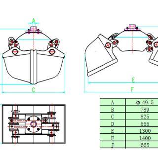 Грайфер кофачен за насипни материали ГК 160L