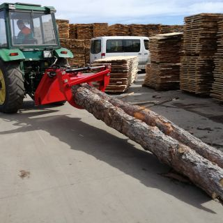 Грайфер за безчокерен извоз на дървени трупи ГБИ 22