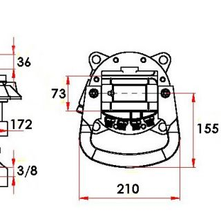Ротатор с фланец CLB 40F